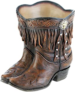 Summerfield Terrace Fringed Cowboy Boot Planter