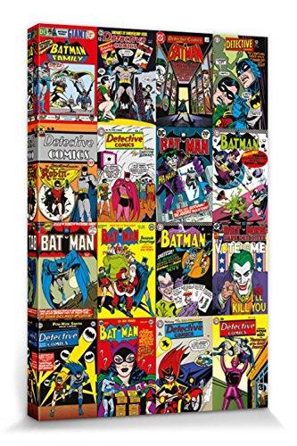 1art1 Batman - DC Comics, Comic Covers Montage Cuadro, Lienzo Montado sobre Bastidor (120 x 80cm)