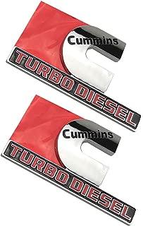Cummins Turbo Diesel Emblems, Badges High Output Nameplate Replacement Sticker for RAM 2500 3500 Fender Emblem (Chrome)