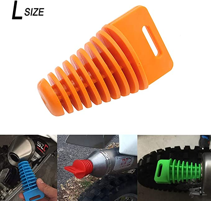 Coolsheep Muffler Pipe Exhaust Rubber Wash Plug for 2 Stroke /& 4 Stroke Dirt blike Scooter Moped Motorcycle Suzuki ATV KTM CR KX RM YZ 80cc 125cc 150cc 250cc Fluorescent Green
