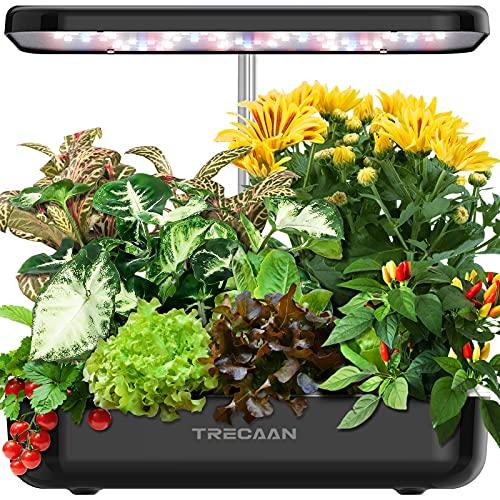 Hydroponics Growing System 12 Pods Indoor Garden, Trecaan Smart Herb Garden Kit With 36W Grow Light For Plant Growing Gardening Gifts For Women Mom