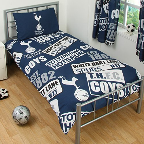 Tottenham Patch Single Duvet Set - Multi-Colour by Tottenham Hotspur F.C.