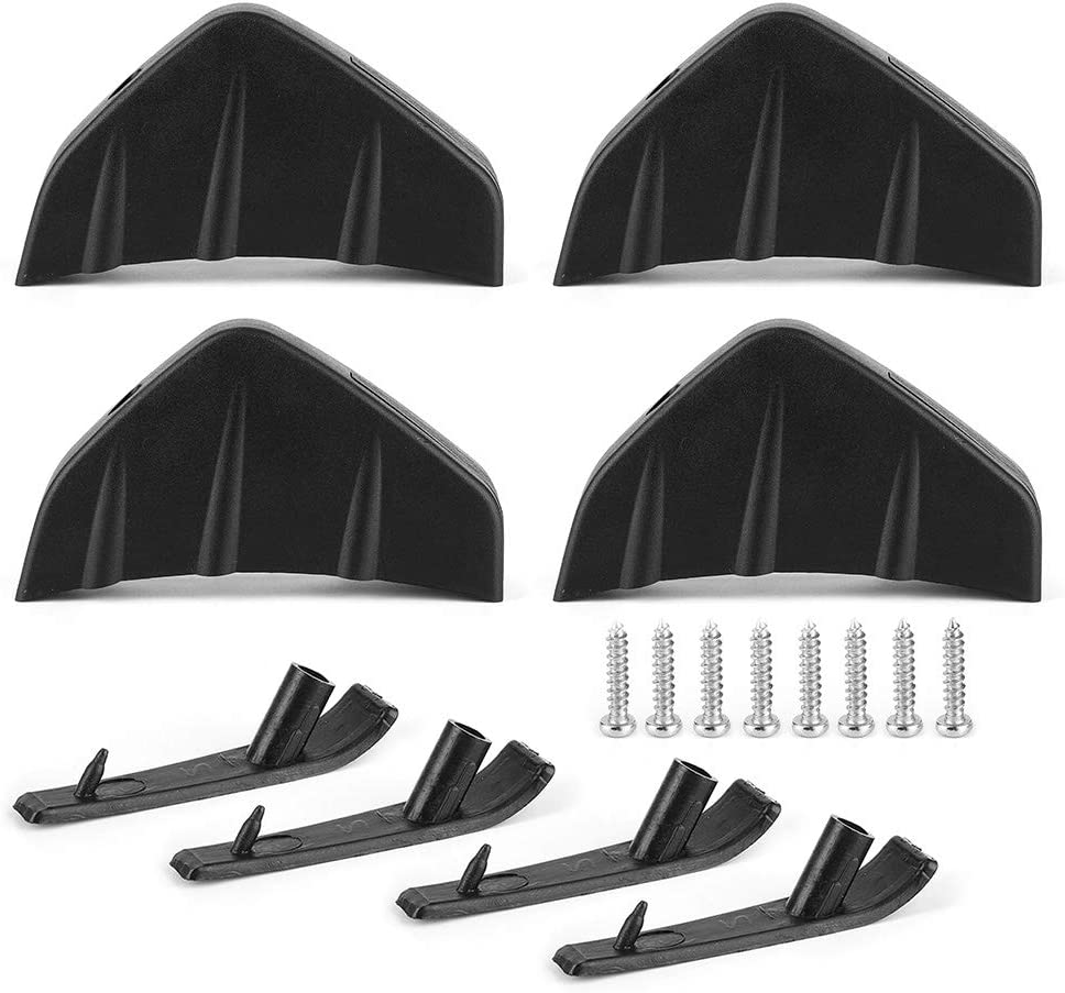 Rear Spoiler Now on sale 4pcs Car Max 77% OFF Bumper Color Black A Fin Lip