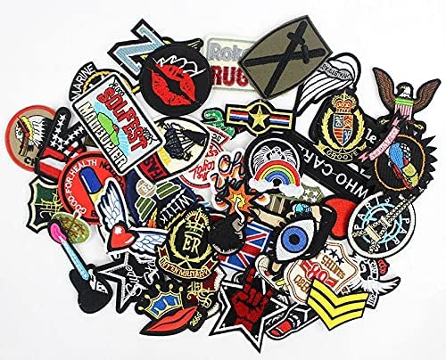 DNH1988 50pcs Mixed lot Clothes Badges Iron Patches on Sewing 1 year warranty Sale item
