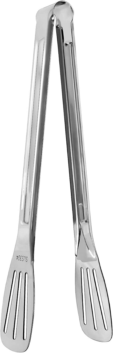 uxcell Kitchen Tongs for Cooking Stainless Steel Tongs Non-stick Tong Toaster Salad Serving BBQ Tongs 9.5