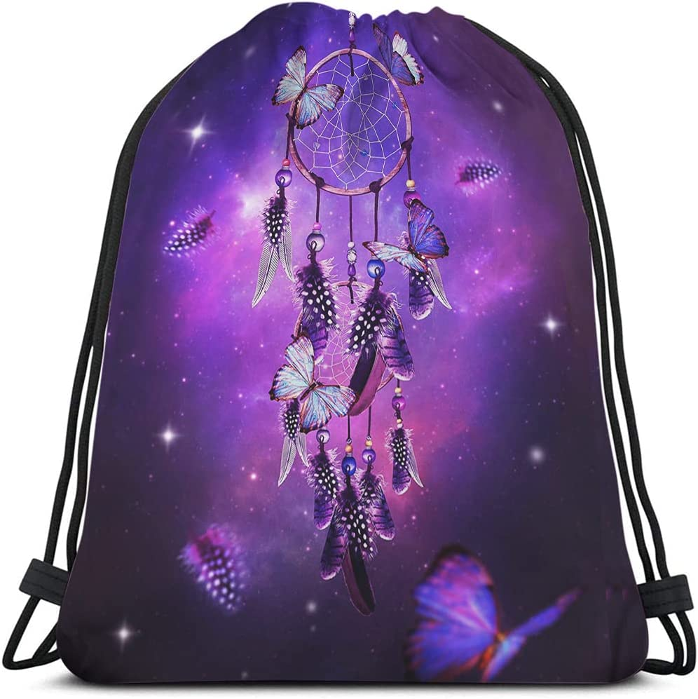 Beabes Dream Catcher Drawstring Bags Backpack Butterfly Feat Free Shipping price New Bag