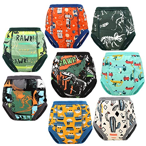 FLYISH DIRECT 8 Packs Toddler Training Underwear for Boy and Girls Strong...