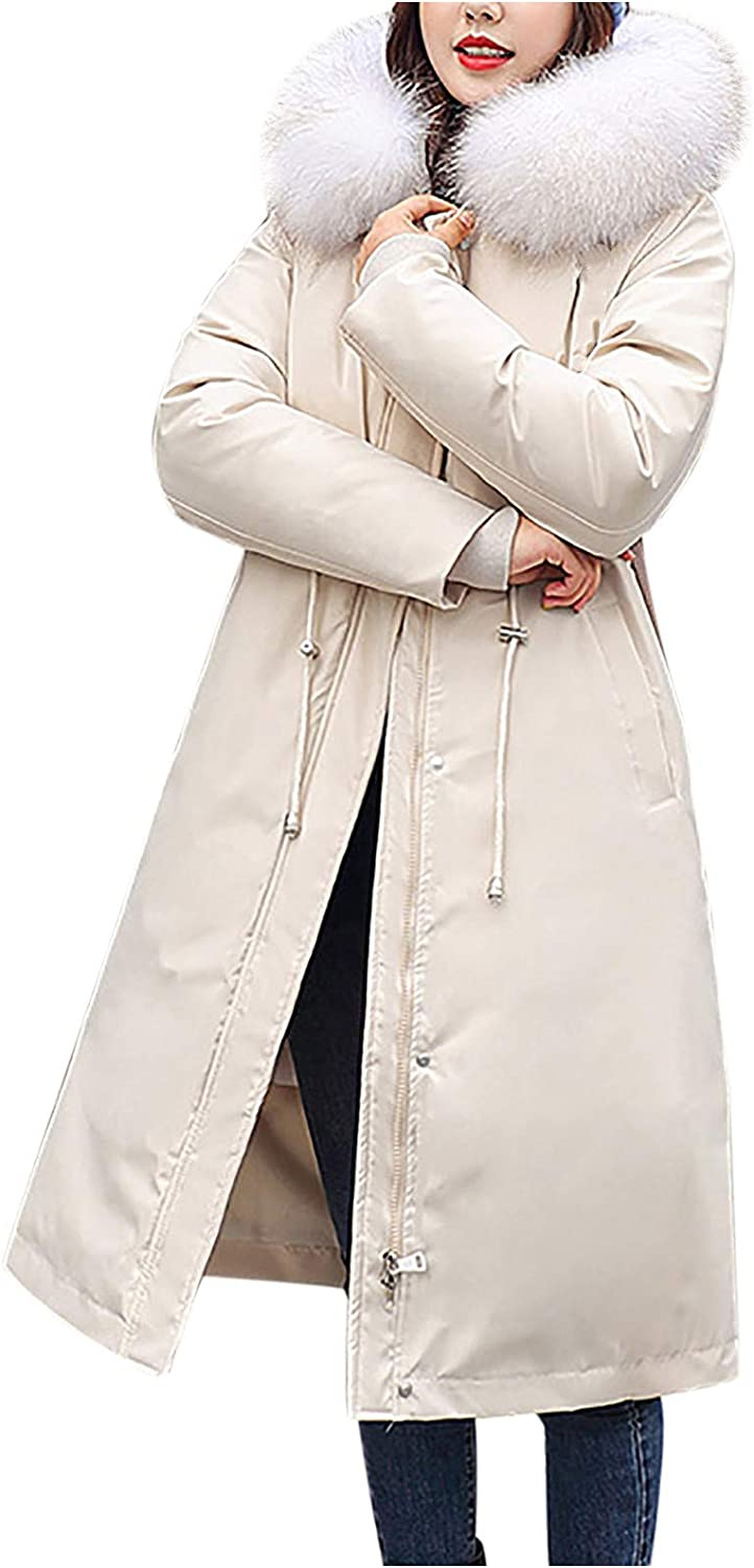 HGWXX7 Max 60% OFF Womens Outerwear Slim Fit Long Winter Plus Animer and price revision Size Co Sleeve