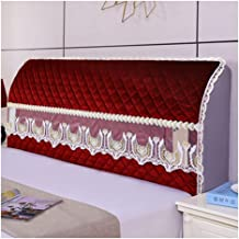 Velvet Bed Headboard Slipcover Protector Stretch Solid Color Dustproof Cover for Bedroom Decor Washable Furniture Slipcove...