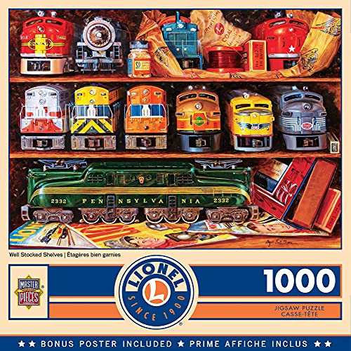 1,000-Pc MasterPieces Lionel Well Stocked Shelves Jigsaw Puzzle $8 + Free Shipping w/ Amazon Prime or Orders $25+
