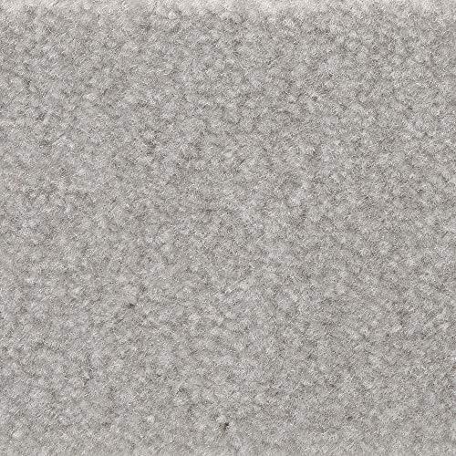 Teppichboden Auslegware | Velours gemustert | 400 und 500 cm Breite | grau weiß | Meterware, verschiedene Größen | Größe: 1,5 x 4m
