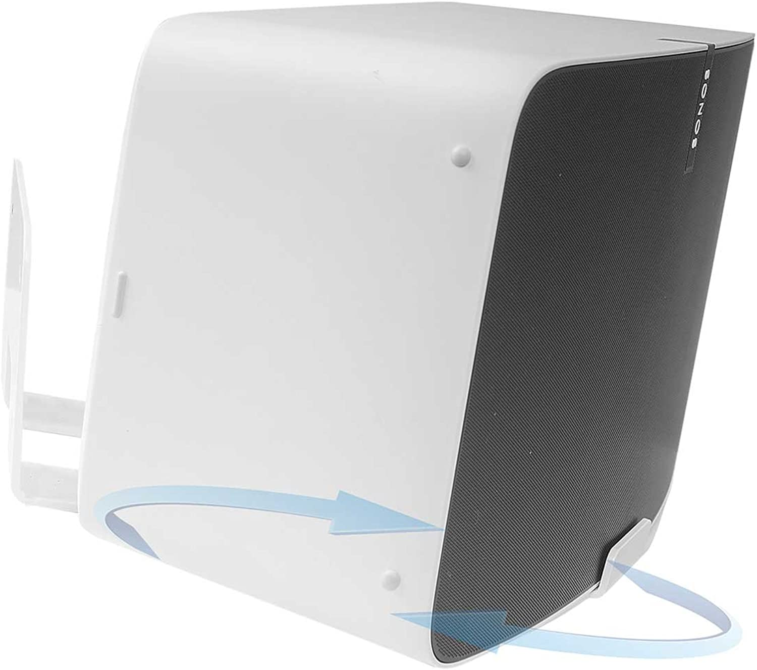 Vebos Wall Mount Sonos Play 5 gen 2 redatable White 20 Degrees - Compatible with Sonos Play 5