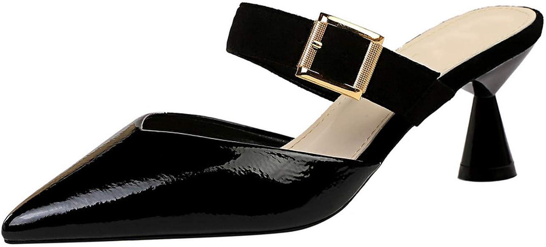 Fashion Spike Heel Sandals Women Slippers Pumps High Heel Sandales 2019 Summer Slip On Party Wedding