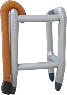 Micro Trader Inflatable Zimmer Frame & Walking Stick PVC Blow Up Toys Novelty Gag Joke Dress Up