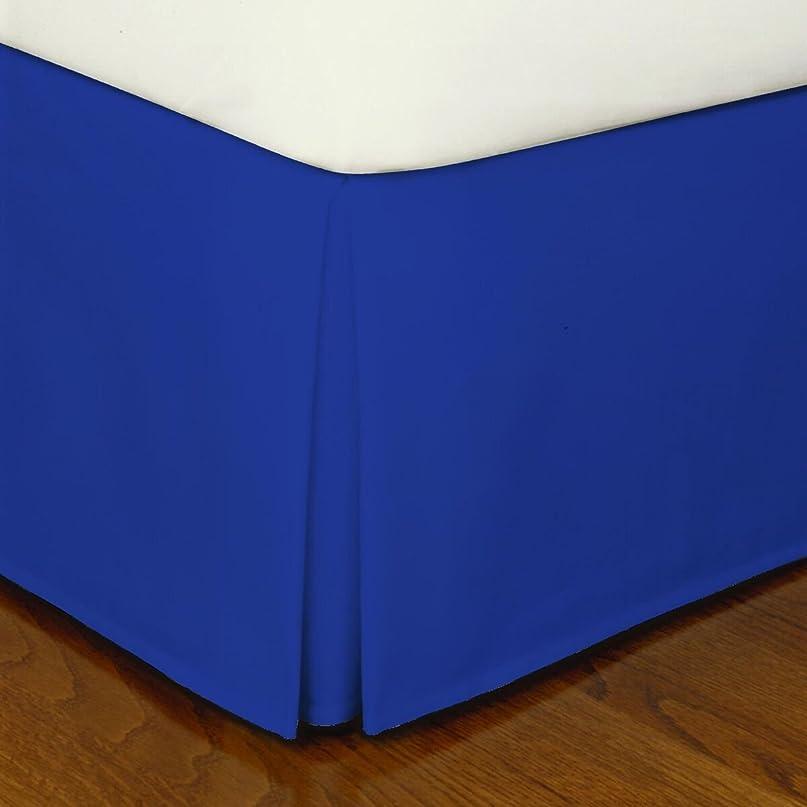 歯痛ブッシュリフトCrescent寝具プリーツベッドスカートお手入れ簡単、Quadrupleプリーツデザイン、ファブリックベース自然にDraping、15?