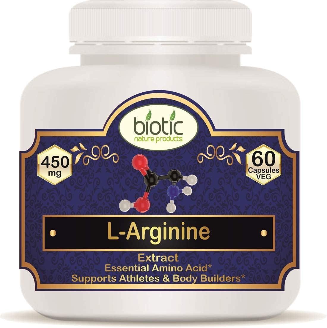 It is very popular Bluenile Biotic L-Arginine L Arginine Capsules C mg 60 Award-winning store - Veg 450