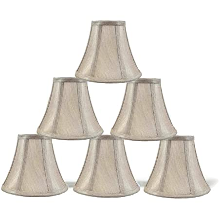 Wellmet Rustic Style Linen Soft Bell Shade Mini Chandelier Lamp Shades Brown Set Of 6 Vintage Cilp On Shades For E12 Candle Bulbs Ceiling Light Fixture Wall Lamp 3x6x5 Inches Amazon Com