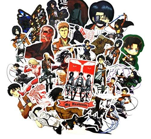 DZCYAN 42 Pcs/Pack Japanese Anime Attack On Titan Stickers for Laptop Motorcycle Skateboards Wardrobe Guitar Armin Arlert Toys Sticker