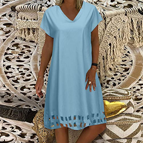 Vectry Ropa Mujer Vestidos Vestidos De Fiesta De Día Vestidos De Coctel Cortos Elegantes Vestidos Casuales Juveniles Vestidos Mujer Verano Vestidos Azul Ligero