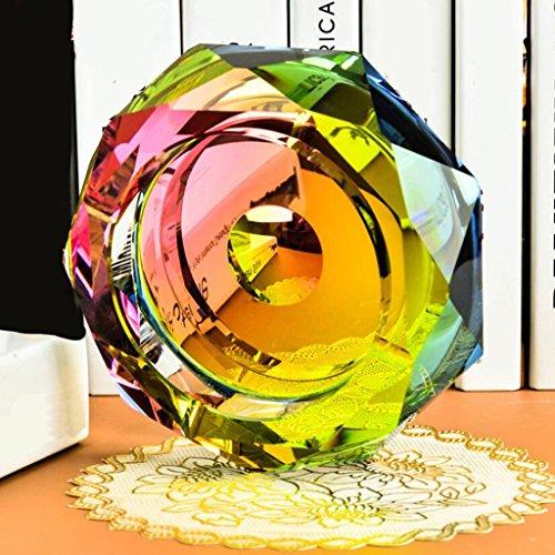 cendrier Xuan - worth having Colorful Color Star Anis verre cristal Décoration créative de mode de salon (taille : 18*18*4cm)