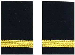 1 Gold Bar Epaulet Pilot Epaulette Sliders, Professional Pilot Uniform Epaulets