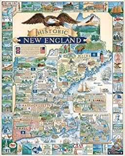 White Mountain Puzzles Historic New England - 1000 Piece Jigsaw Puzzle