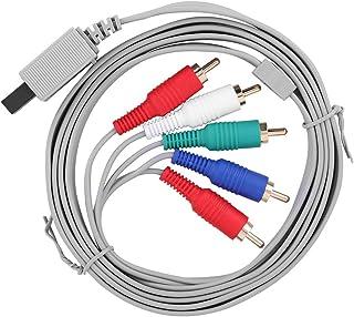 Cabo AV componente, Adaptador de áudio e vídeo de alta definição AV HDTV Component Cable Wire para Wii U Gaming System