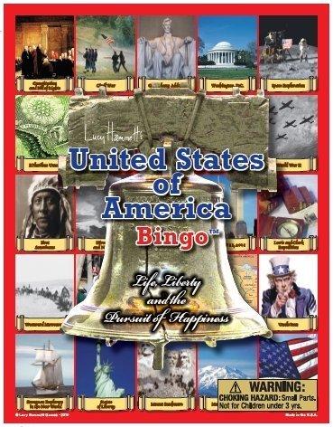 Lucy Hammett 2377 United States of America Bingo by Lucy Hammett Games