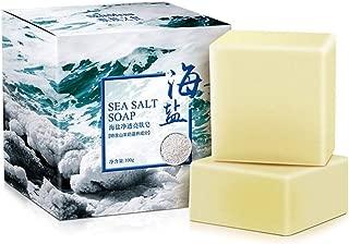 Sea Salt Soap Cleaner Removal Pimple Pores Acne Treatment Goat Milk Moisturizing Moisturizing Body Care Acne Smoother 100g TSLM2 (Color : 1)