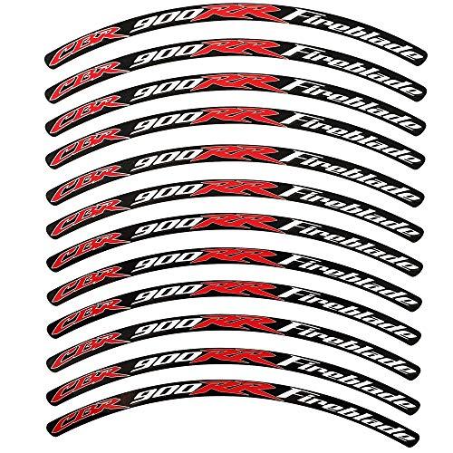 Twisted Melon - Pegatinas para Llantas CBR 900 RR FIREBLADE 1000 RR, 12 Unidades, Estilo 1