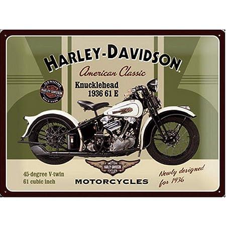 Petit Fonte Rétro Vintage Style Harley Davidson Plaque