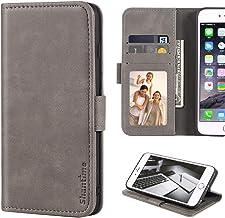 BQ Aquaris X5 Plus View Pictures Case, Leather Wallet Case with Cash & Card Slots Soft TPU Back Cover Magnet Flip Case for...