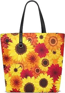 FANTAZIO Schultertasche für Damen, farbenfrohe Herbstmotive