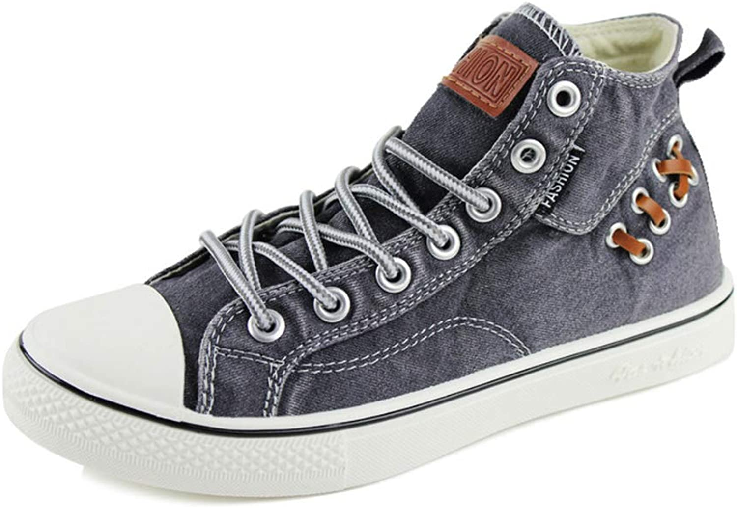 Brilliant sun Fashion Spring Summer Men Casual High Top shoes Canvas Sneakers Demin shoes