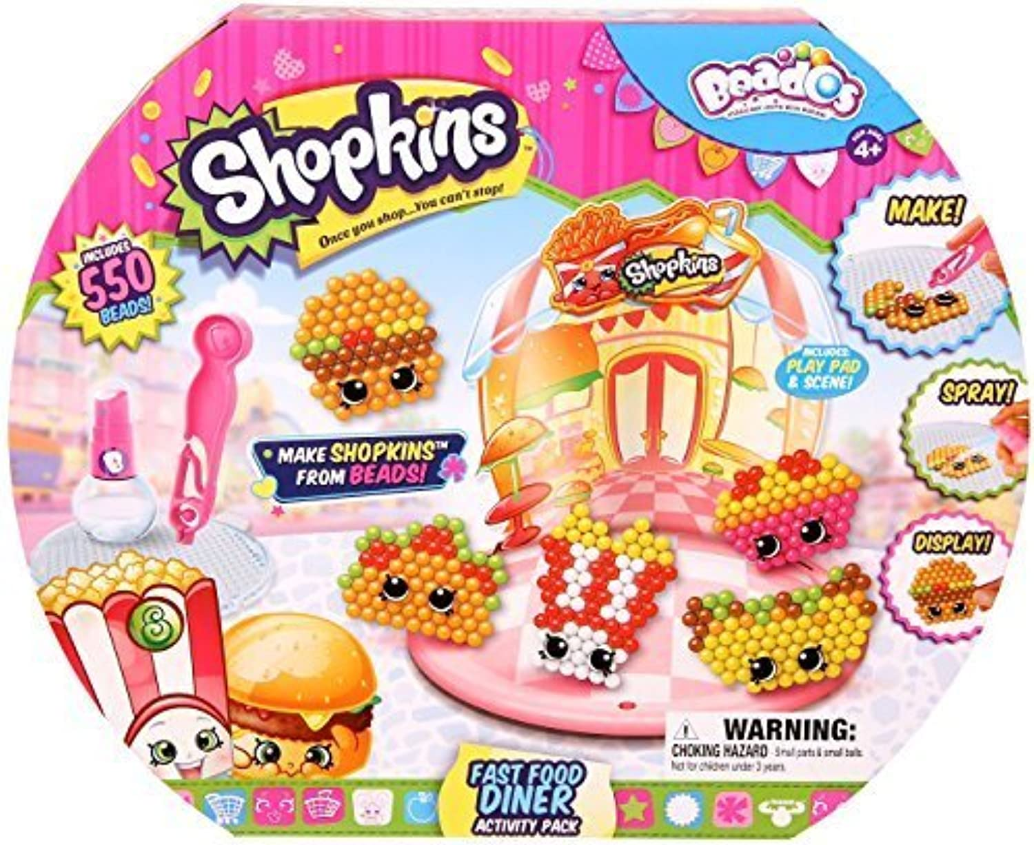 Beados Shopkins Fast Food Diner Activity Pack by Beados