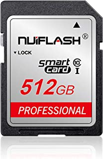 SD Card 512GB Memory Card 512GB TF Card Class 10 High Speed Compatible Computer Camera and Smartphone