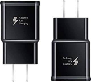 Samsung Adaptive Fast Charging Wall Charger Adapter Compatible with Samsung Galaxy S10 S10+ Plus S9 S9 Plus S8 S8 Plus S7 Edge S6 Edge Active Note 9 Note 8 Note 5 LG G5 G6 G7 V20 V30 (2 Pack)