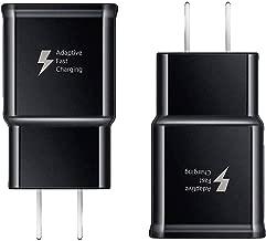 Samsung Galaxy Fast Charger Adaptive Fast Charging Wall Charger Plug Compatible Samsung Galaxy S10 S10+ Plus S9 S9 Plus S8 S8 Plus Note 10 Note 9 Note 8 S7 S6 Edge Active LG G5 G6 G7 V20 V30 (2 Pack)