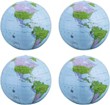 TURNMEON 12 Pack World Globe Beach Balls Inflatable Pool Toys Games 12 Giant Outdoor Beach Pool Party Balls Swimming Water Pool Toys Party Supplies for Adult Kids Beach Floats with Skin-Friendly PVC