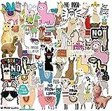 100 pegatinas de alpaca divertidas para adolescentes, niñas, adultos, niños, pegatinas para botellas de agua, portátil, teléfono, Hydro Flask, vinilo impermeable (Alpaca)
