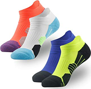 Low Cut Running Socks, NIcool Men's Tab Performance Athletic Outdoor Dri-Fit Socks