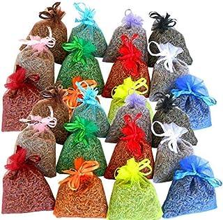 24 sacchettini di organza multicolor, ciascuno riempito con 10 g di pura lavanda (240g)