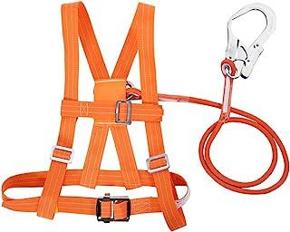 Kits de arnés de seguridad, arnés de seguridad para la detención de caídas, 6 stypes Arnés de escalada ajustable para exteriores Cinturón de seguridad Cuerda de rescate(Big Buckle 1.6m)