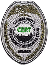 CERT Badge Embroidered Patch Community Emergency Response Team - F 114
