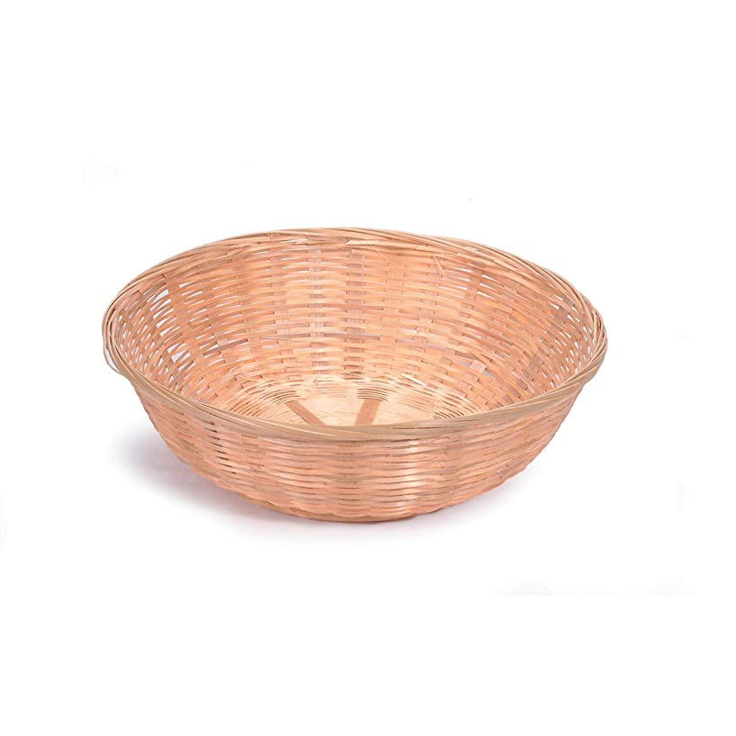 Bulk Buy: Darice DIY Crafts Bamboo Bread Basket Round 12 x 3.5 inches (12-Pack) 2858-54