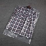 50 bolsas transparentes para ropa, reutilizable bolsa de almacenamiento de ropa, armario de lavandería, 27.4 x 22 x 2.9...