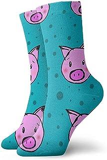 Calcetines Cerdos y Lunares Cojín Que Absorbe la Humedad Colorido Divertido No Show Calcetines Bajos de Corte bajo