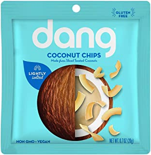 Dang Keto Toasted Coconut Chips | Lightly Salted Unsweetened | 24 Pack | Keto Certified, Vegan, Gluten Free, Paleo Friendl...