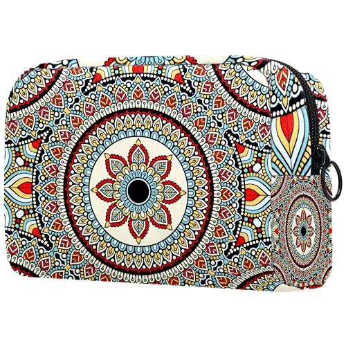 AITAI Bolsa de maquillaje grande bolsa de viaje organizador cosmético Mandala psicodélico henna