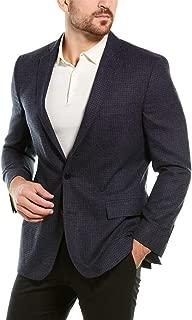 Mens Regent Fit Wool Sport Coat, 46R, Blue